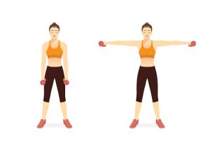 Elevación lateral de hombros