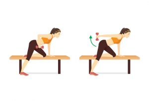Tríceps kickback